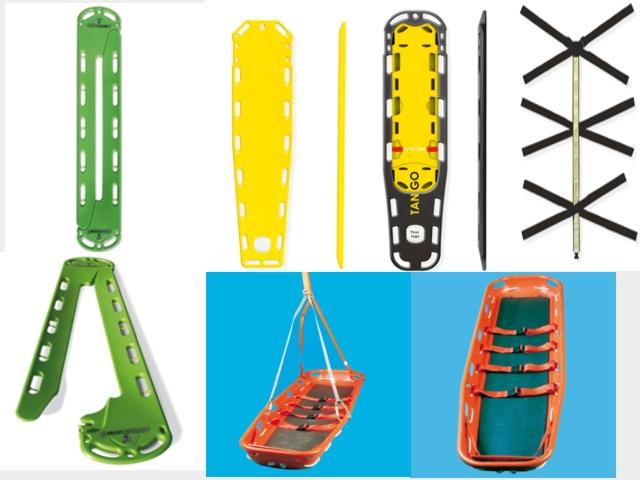 Spineboard, Wirbelsäulenbrett, Rettungsbrett, Schaufeltrage