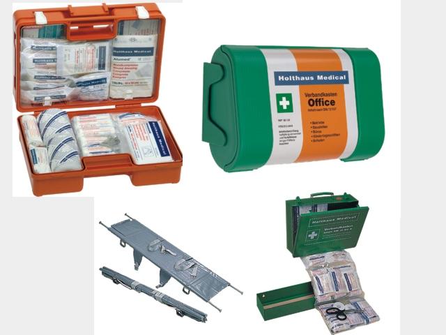Verbandtasche, Verbandkasten, Sanitätstasche, Sanitätskasten, Erste Hilfe Koffer,