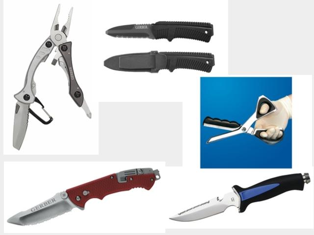 Rettungsmesser, Rettungsschere, Verbandschere, Kleiderschere,