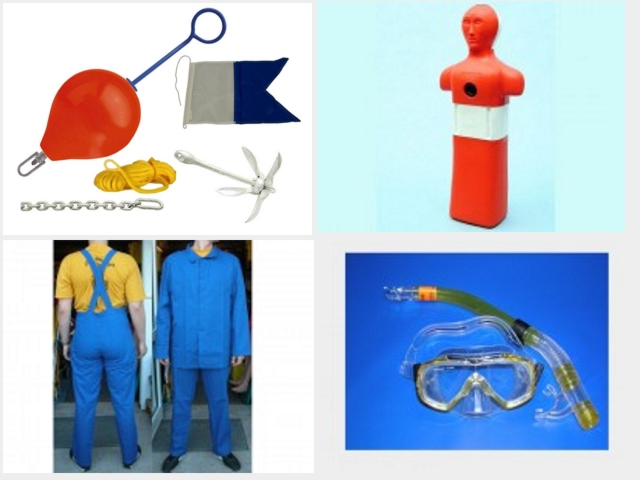 Schwimmausbildungszubehör, Schwimmanzug, Wassersportzubehör, Bootszubehör, Badezonenkennzeichnung, Flaggen, Schlauchboot,