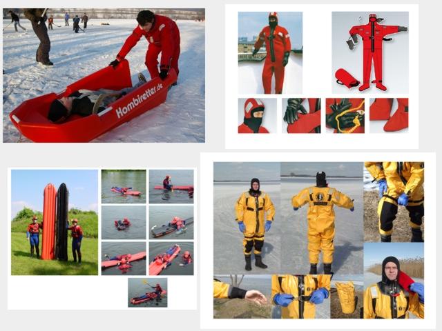 Wasserrettungszubehör, Eisrettungszubehör, Rettungskajak, Bootsflagge, Rettungsweste, Schwimmweste, Spineboard, Rettungsschlinge, Rettungsring, Rettungsboje, Rettungsleine, Wurfsack, Rettungsstange, Sicherungsleine