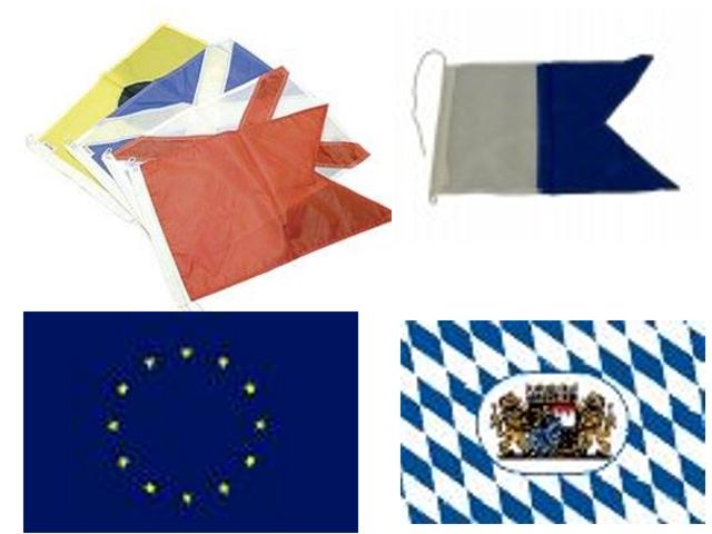 Badezonenflagge & Signalflagge, Bootsflagge & Fahne