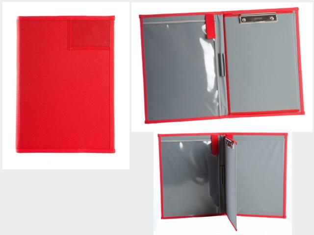 Dokumententasche, Einsatzleitertasche, Ordner, Hefter, Hochformat, DIN A4, ca.2,5cm Rückenbreite, rot