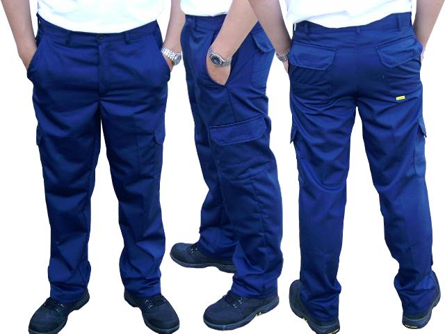 Herrenhose, Arbeitshose, Rettungsdiensthose, blau