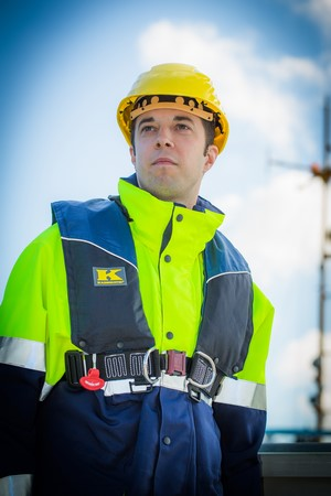 Rettungsweste, Automatikweste, 275 AHR-BG, u Rückenteil,Norm: EN ISO 12402-2 und EN ISO 12401 (Harness)