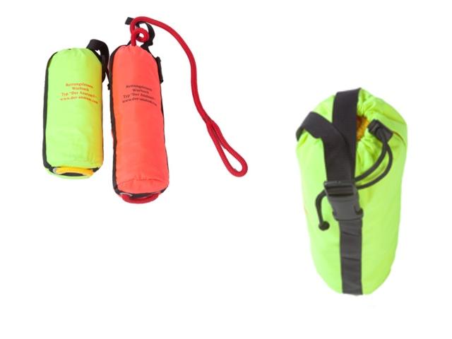 Rettungsleinensack, Wurfsack, 20 meter Leine, Tasche separat tragbar & umschnallbar