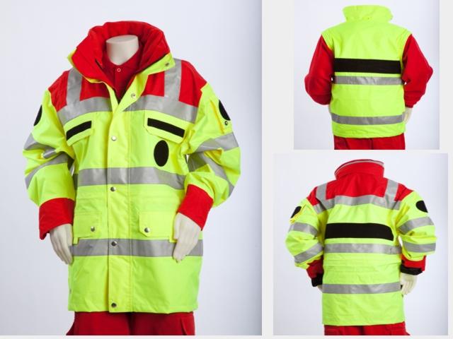 Warnschutzanorak; Modell Rot/Gelb, 4-Jahreszeiten