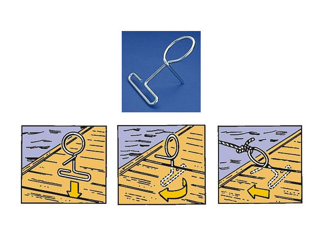 Dock Ring, mobiler Bootsfestmachering, zum befestigen von Booten an Stegen