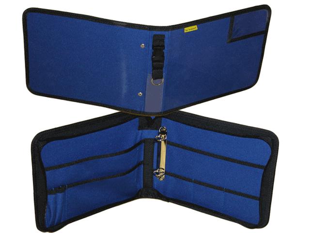 Dokumententasche, Fahrtenbuchtasche, Organizer, DIN A5 Querformat, blau