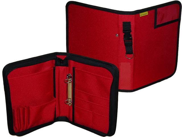 Dokumententasche, Fahrtenbuchtasche, Organizer, DIN A5, Hochformat, rot