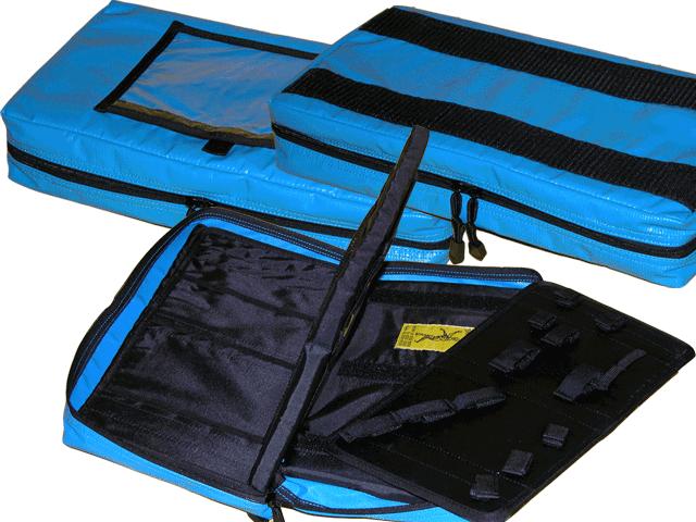 Intubationstasche, blau, leer, ca. 37x21,5x7 cm