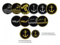 Fachdienstabzeichen, Wasserrettung, Emblem, Klett, rund, ca. 8cm